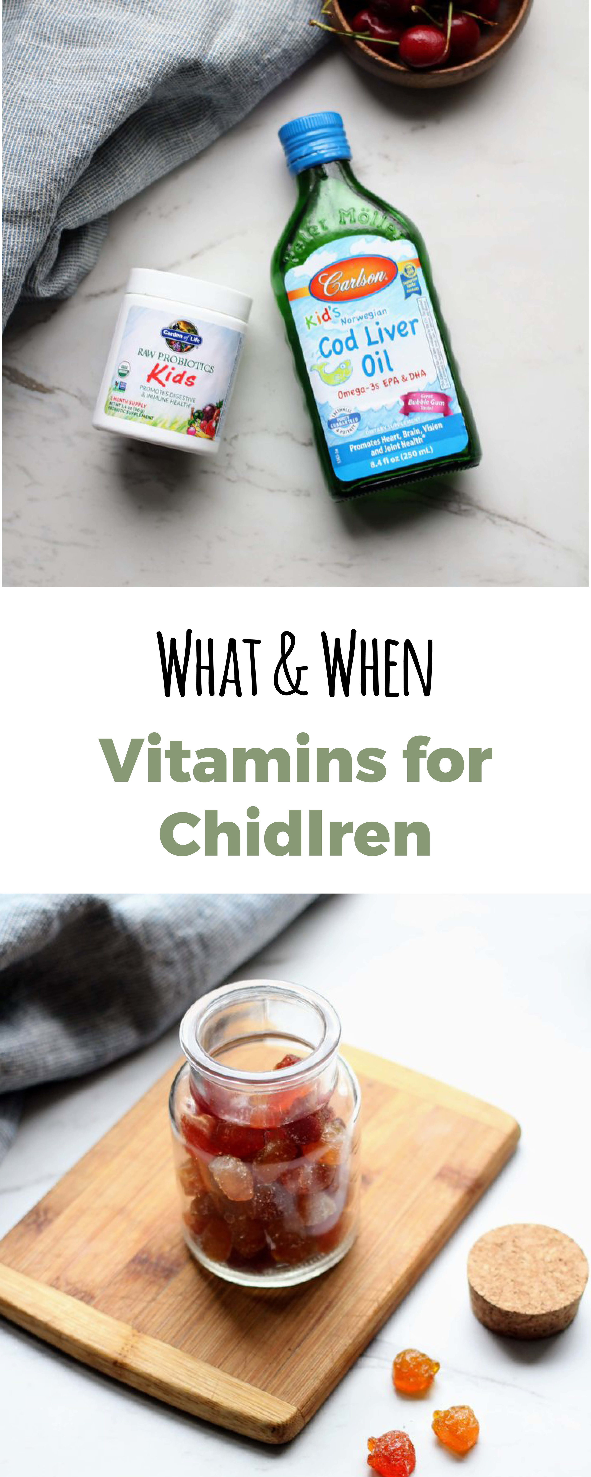 Get all your vitamin questions about your children answered. When should you give them vitamins, do they need them, what brands should you buy?