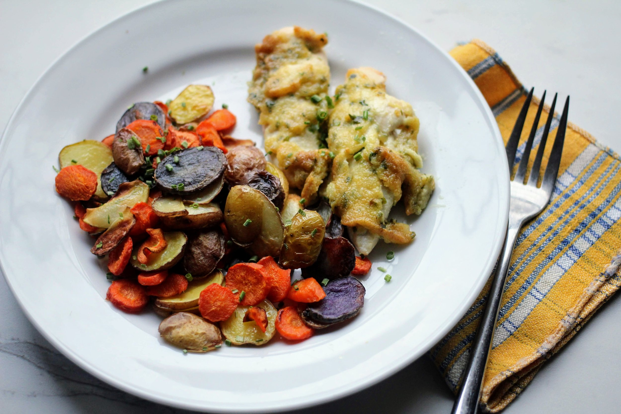 easy sheet pan chicken dinner