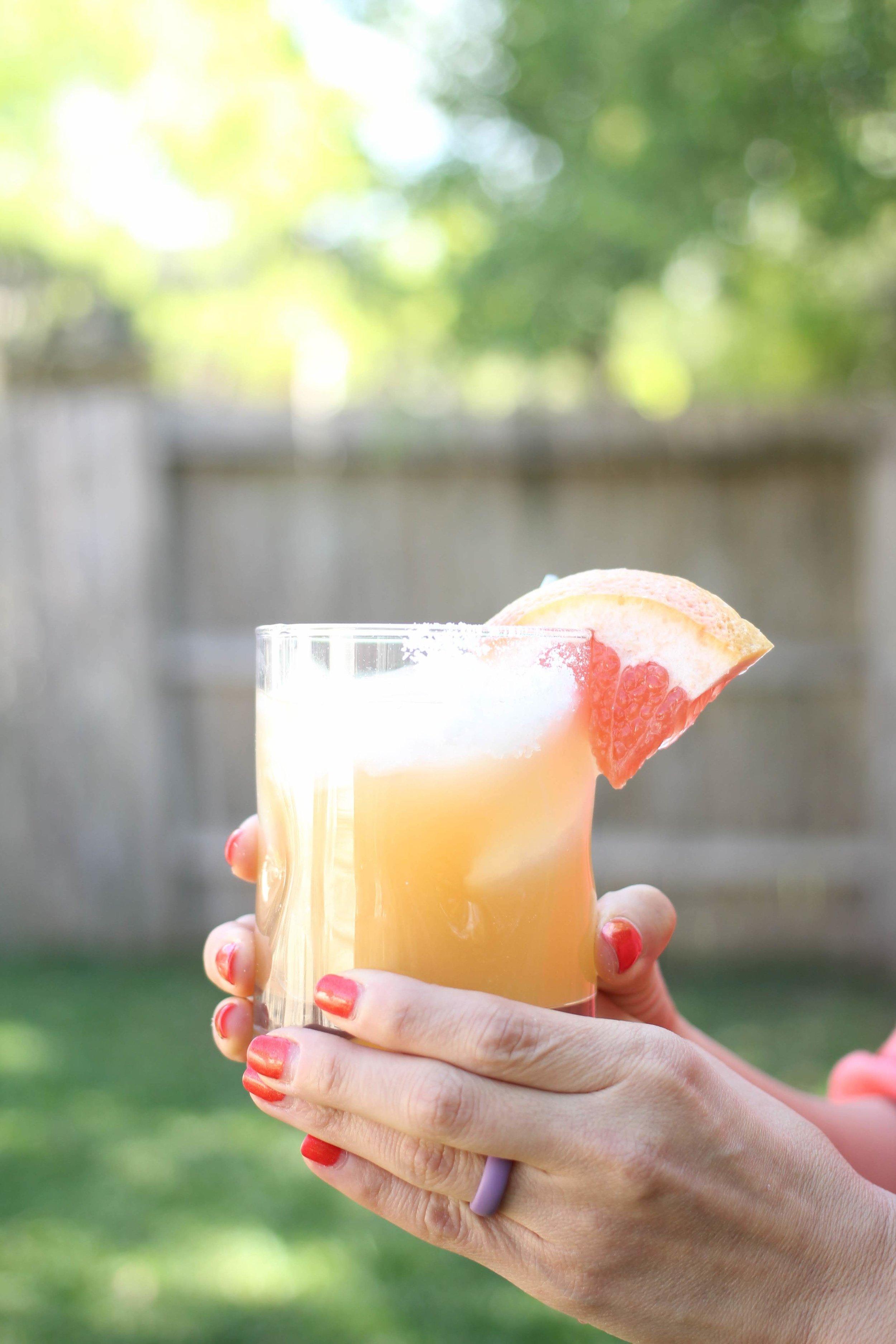 grapefruit sparkling drink