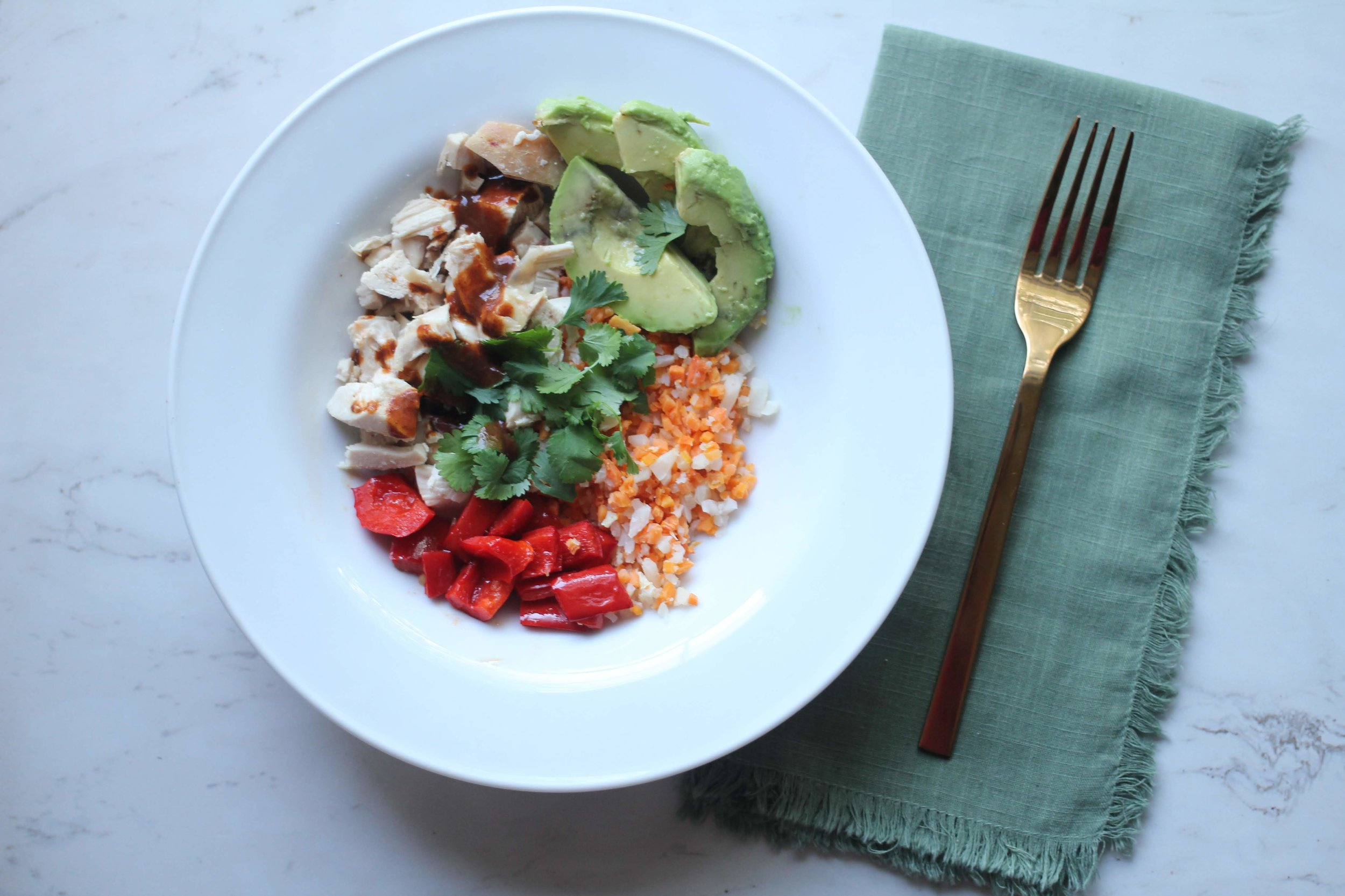 easy dinner with rotesserie chicken