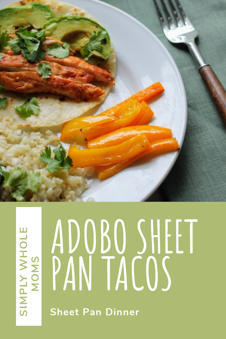 Cook entire taco dinner on a sheet pan using a can of adobo peppers. Kid friendly!