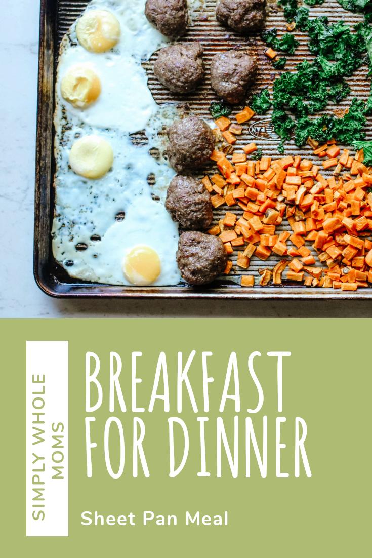 Easy sheet pan dinner, breakfast for dinner. #whole30 and #paleo