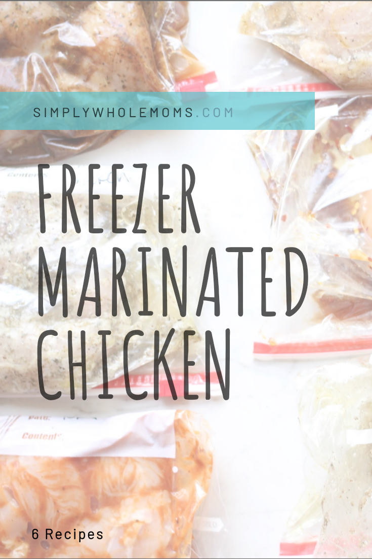 Bulk make six differenct marinated chicken recipes and freeze for easy meal prep.