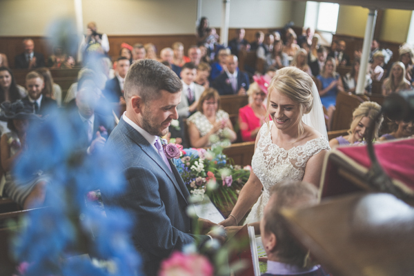 A cool wedding ceremony perspective