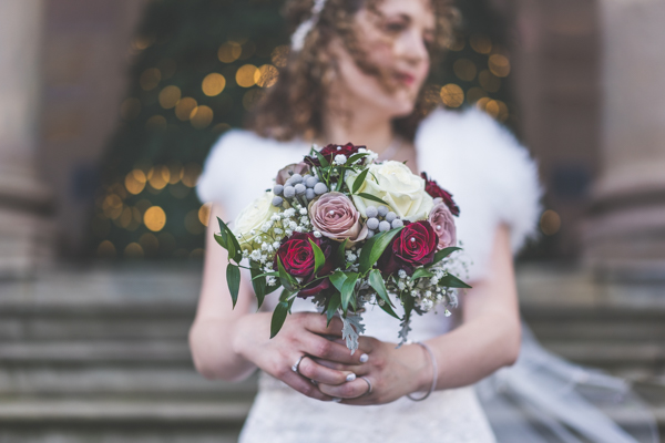 Wedding Bouquet - red, pink and white romantic colour palette - A classic choice