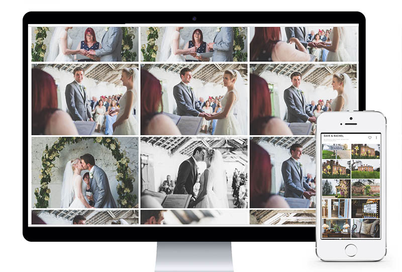 A Beautiful Online Gallery - A beautiful photo gallery for couples to view their images. Mobile-friendly & easy to navigate. Create favourite lists to share with friends and family. View & download from anywhere at anytime.