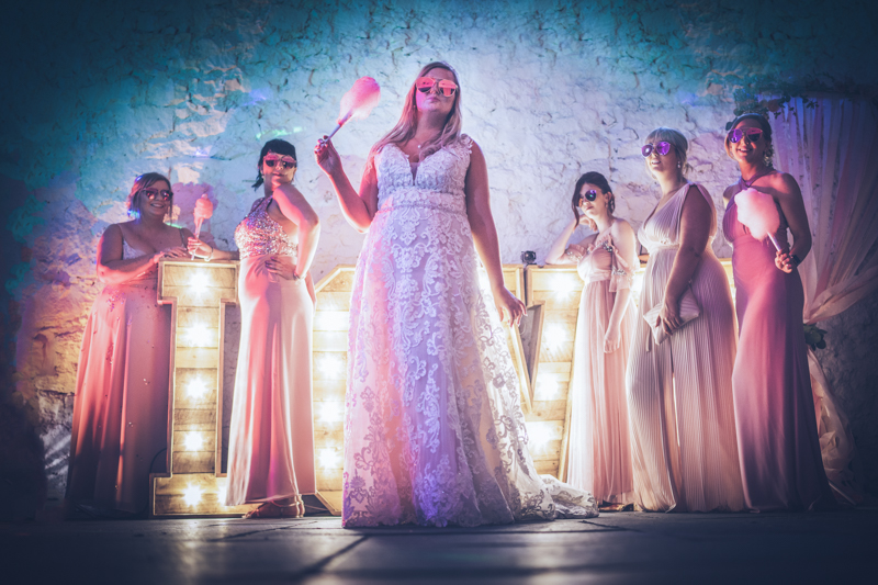 Bright colours and candy floss tones to match - Wedding photography north Wales.jpg