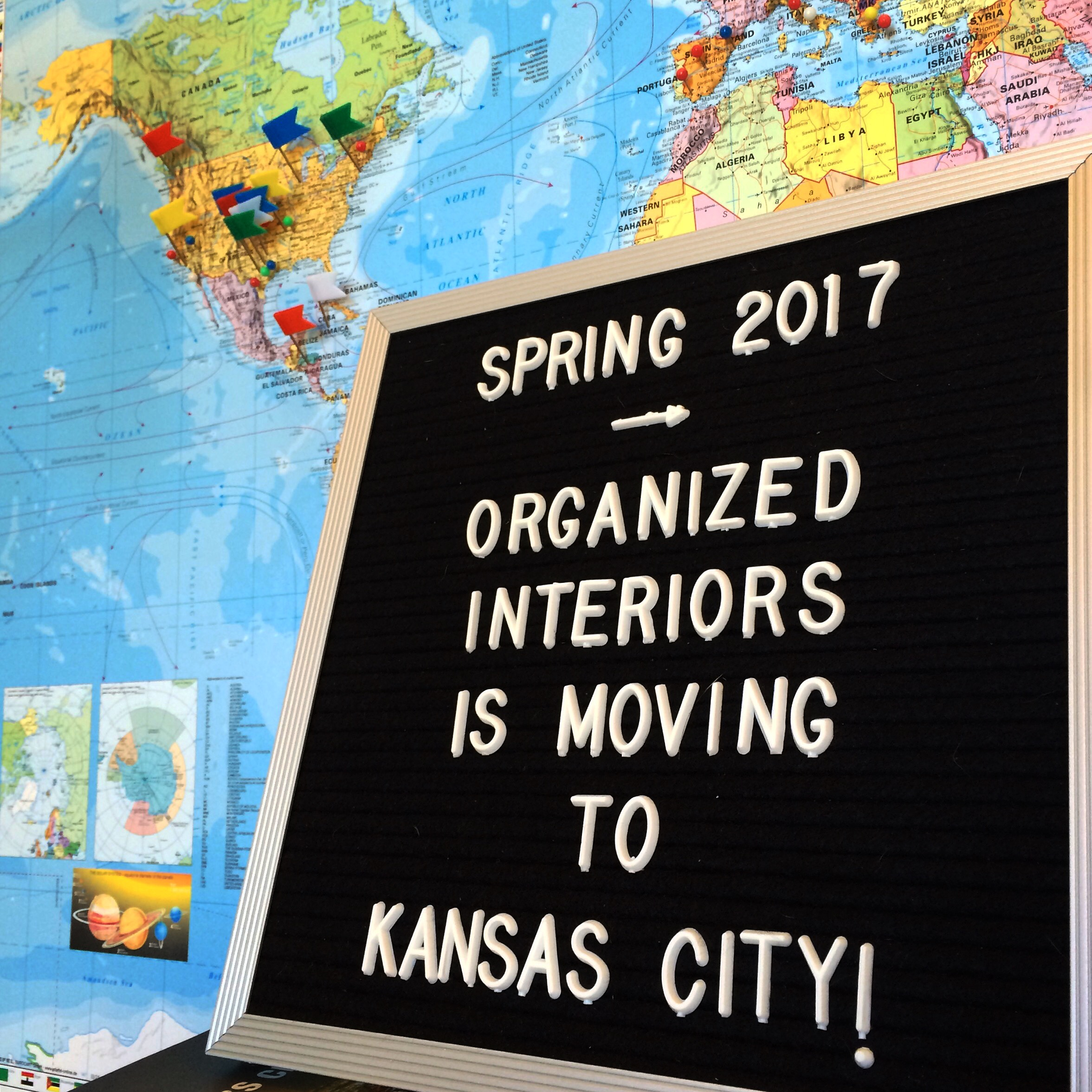 Organized Interiors is moving to Kansas City!