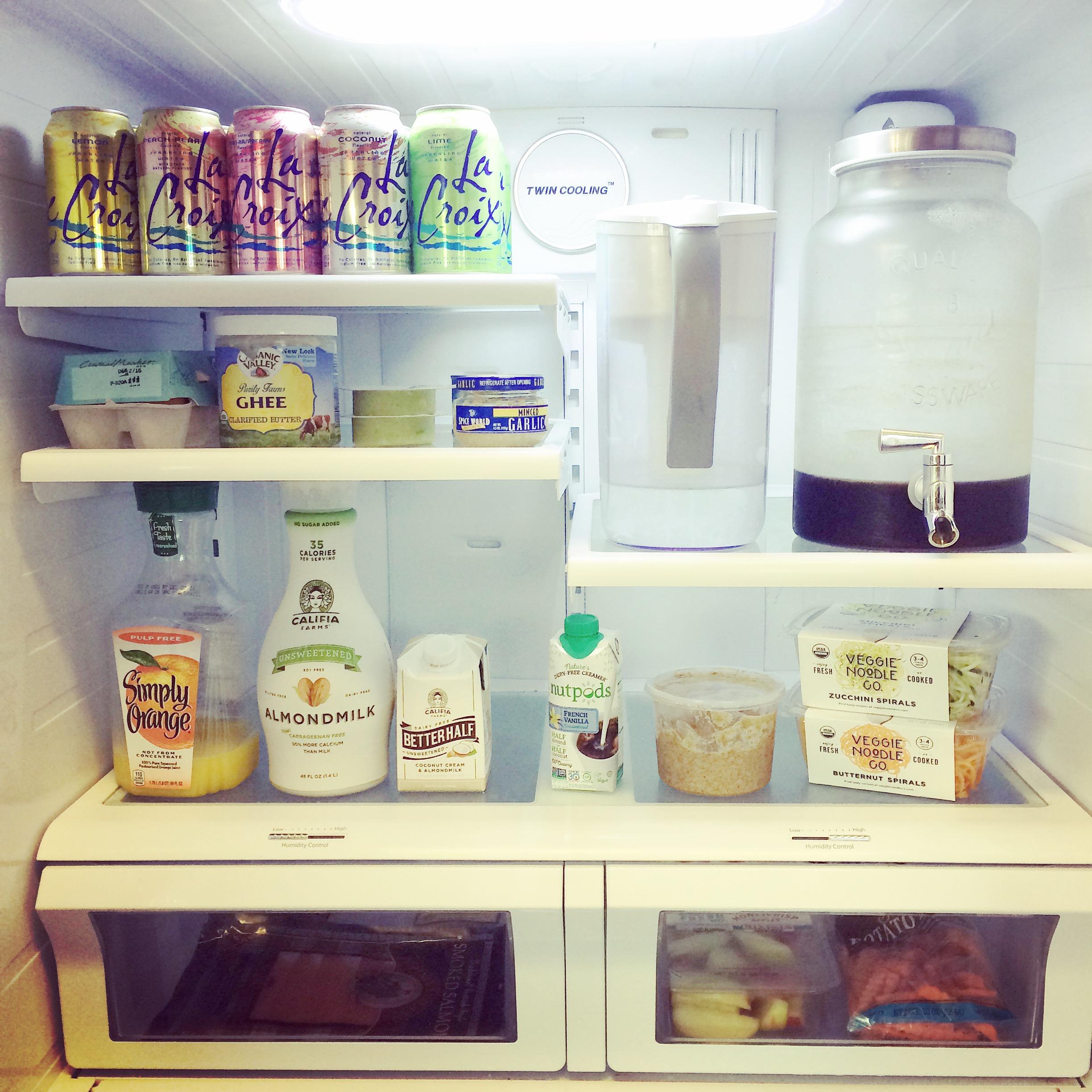 Whole30 fridge organization