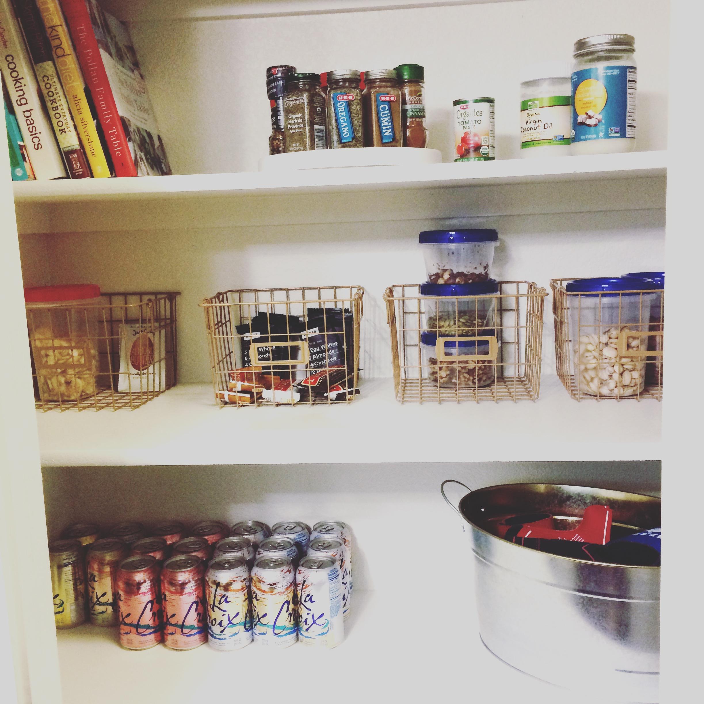 Whole30 pantry organization