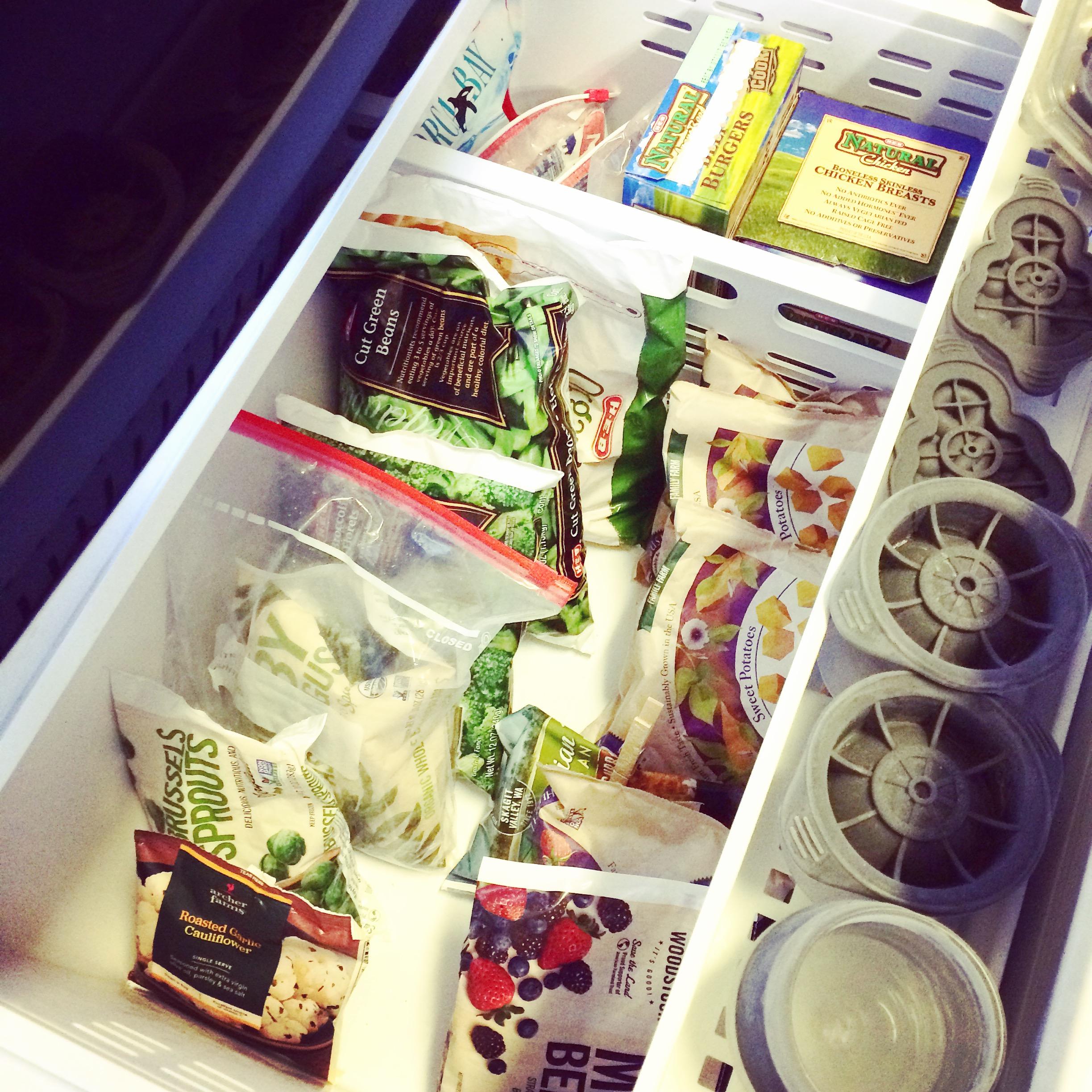 Whole30 freezer organization