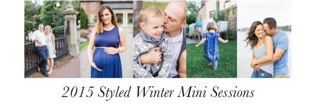 2015 Styled Winter Mini Sessions with Deborah Zoe Photography.