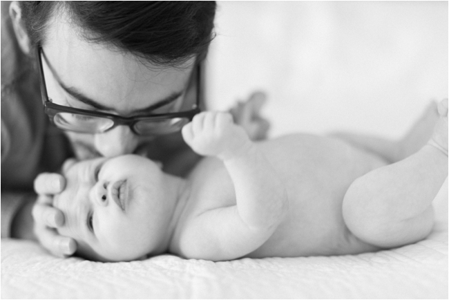 At home newborn session by Deborah Zoe Photography.