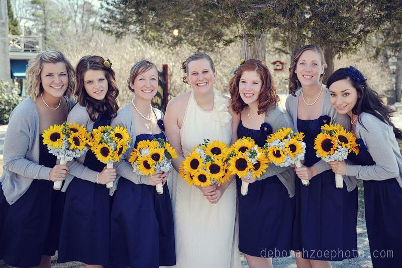 Maine Wedding Photography Maine Wedding Ogunquit Wedding York Wedding DIY Wedding Sunflower Wedding Details  Deborah Zoe Photo031