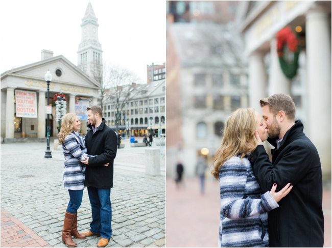 A Quincy Market Engagement Session by Deborah Zoe Photography.