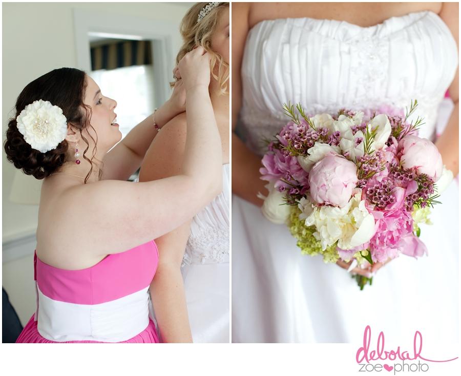 Cape Cod Wedding Massachusetts Wedding Photographer Summer Wedding Outdoor Ceremony Pink Wedding Details Ocean Themed Wedding Coonamessett Inn Wedding Deborah Zoe Photo005