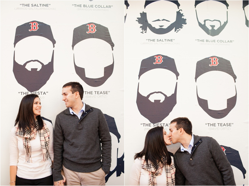 couple in front of red sox beards