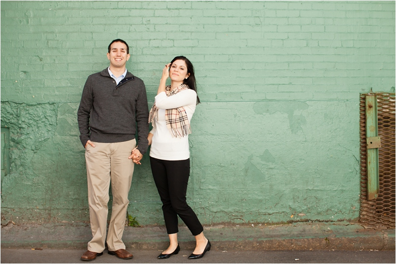 fall engagement session in boston