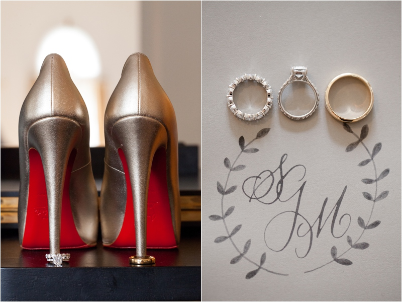 christian louboutin heels and wedding rings at the milton hoosic club