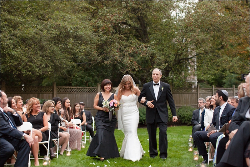 wedding ceremony at the milton hoosic club