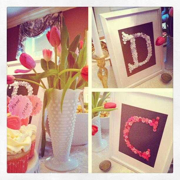 DIY shower new england wedding photographer deborah zoe photo pink gray wedding shower4