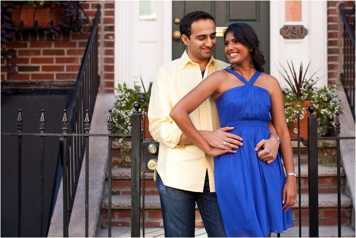 An engagement session in the North End of Boston by Deborah Zoe Photography