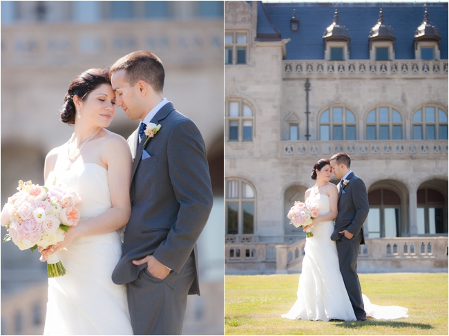 Wedding portraits at Ochre Court.