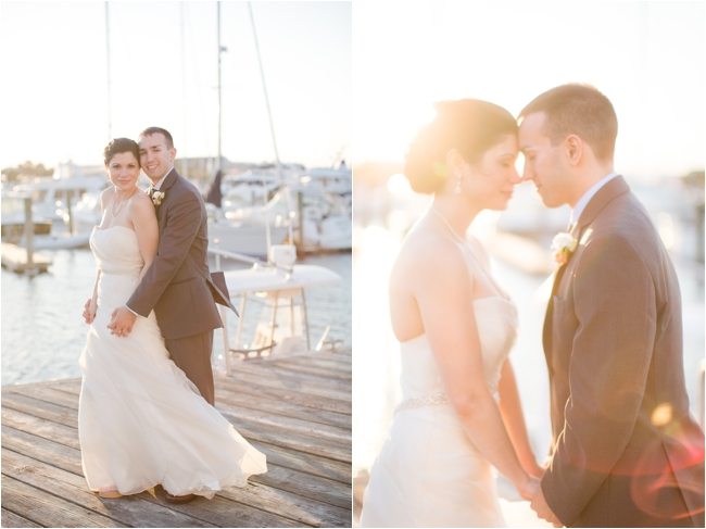 Wedding portraits near Newport Harbor.