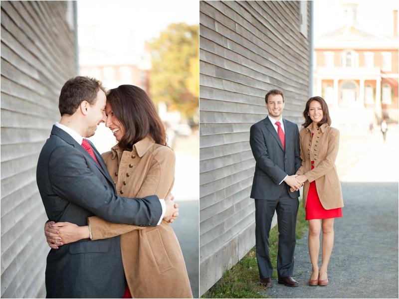 fall engagement session in Salem, Massachusetts