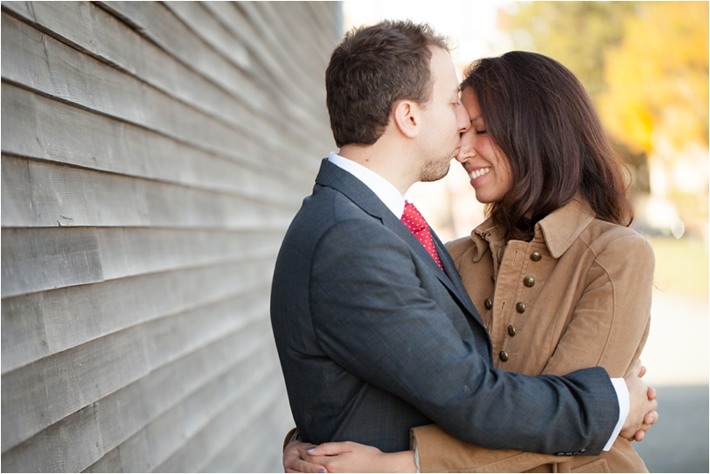 engagement session at Derby Wharf in Salem, Massachusetts
