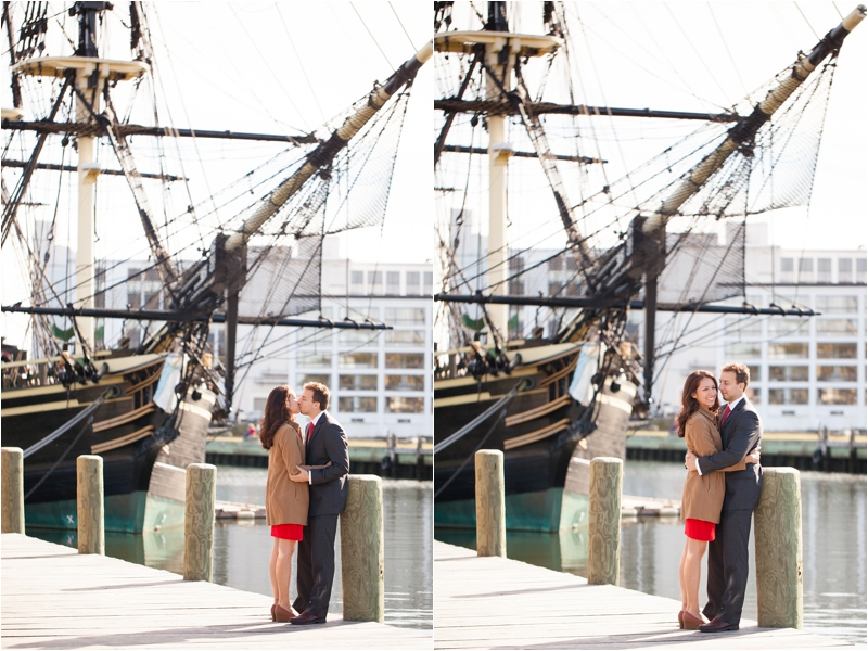 engagement session in front of Friendship in Salem