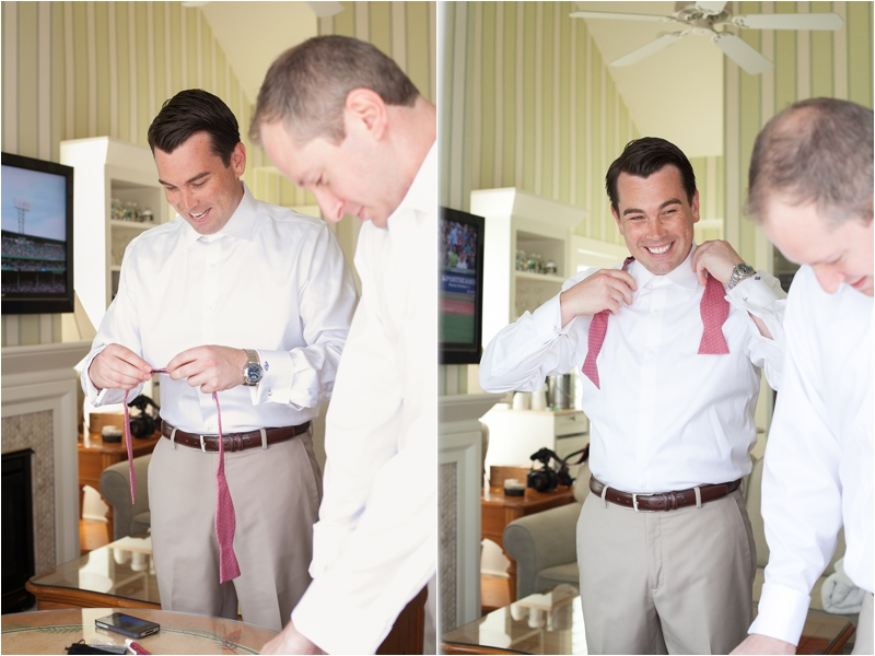 bow ties for the groom at cape code wedding