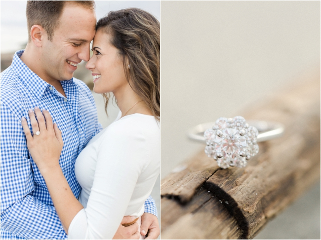 Summer engagement session at the beach by Deborah Zoe Photography.