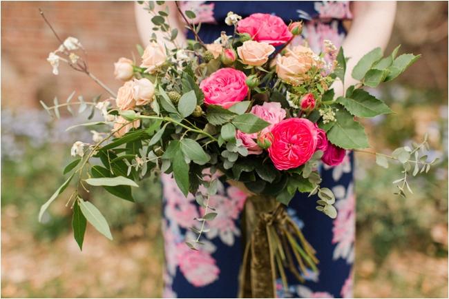 Asymmetrical bouquet by Les Fleurs photographed by Deborah Zoe Photography.
