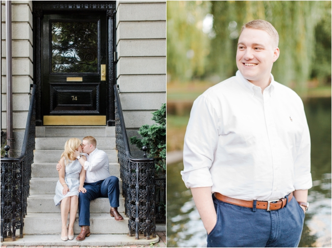 Beacon Hill engagement session photographed by Deborah Zoe Photography.