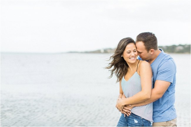 Gloucester Beach engagement session photographed by Deborah Zoe Photography.