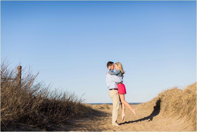 Plum Island engagement session photographed by Deborah Zoe Photography.
