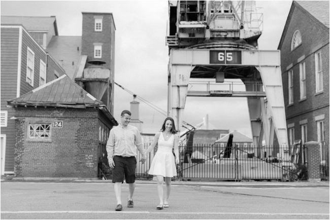 Charlestown Navy Yard engagement session photographed by Deborah Zoe Photography.