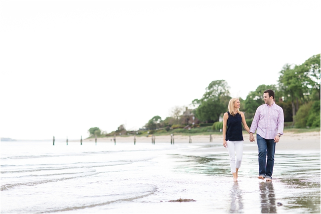 Summer engagement session at the beach in Beverly photographed by Deborah Zoe.