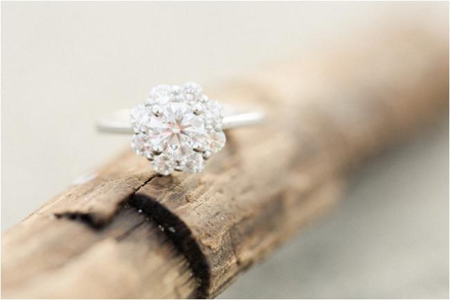 Unique cushion cut diamond ring photographed by Deborah Zoe.