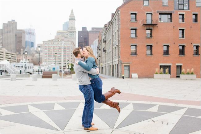 Boston Harbor engagement session photographed by Deborah Zoe.