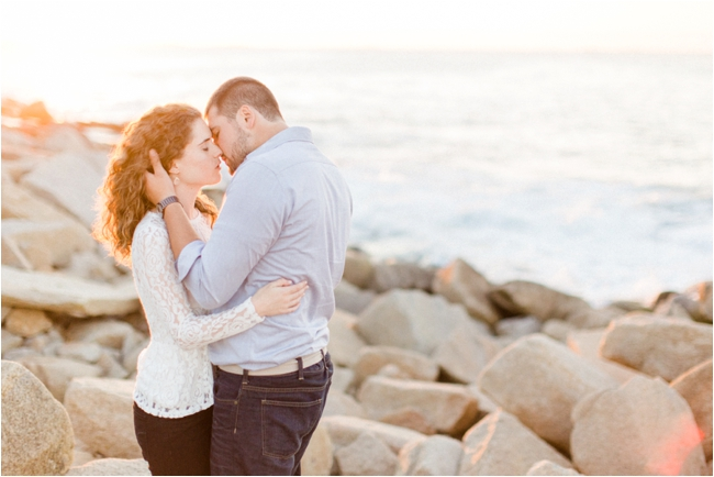 A Halibut Point Engagement Session by Deborah Zoe Photography.
