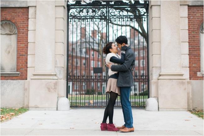 A Harvard Yard engagement session by Deborah Zoe Photography.