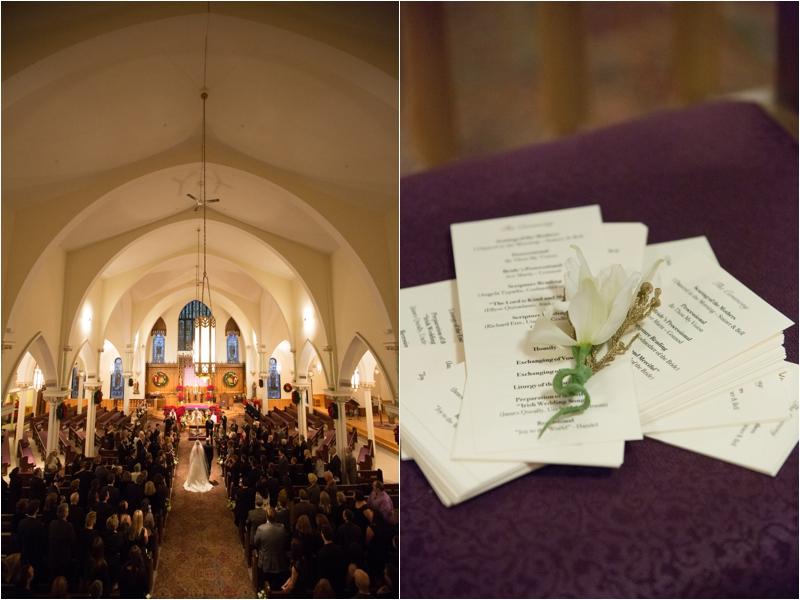 Catholic winter wedding ceremony in Stoneham
