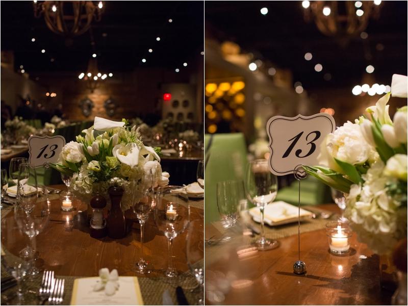 Wedding reception details at L'Andana Grill