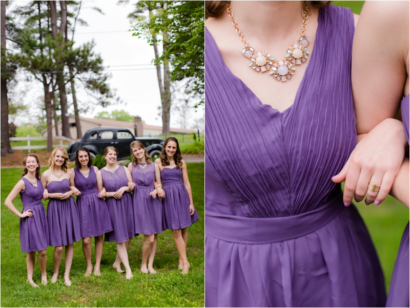 Bridesmaids in purple Target dress on the North Shore.