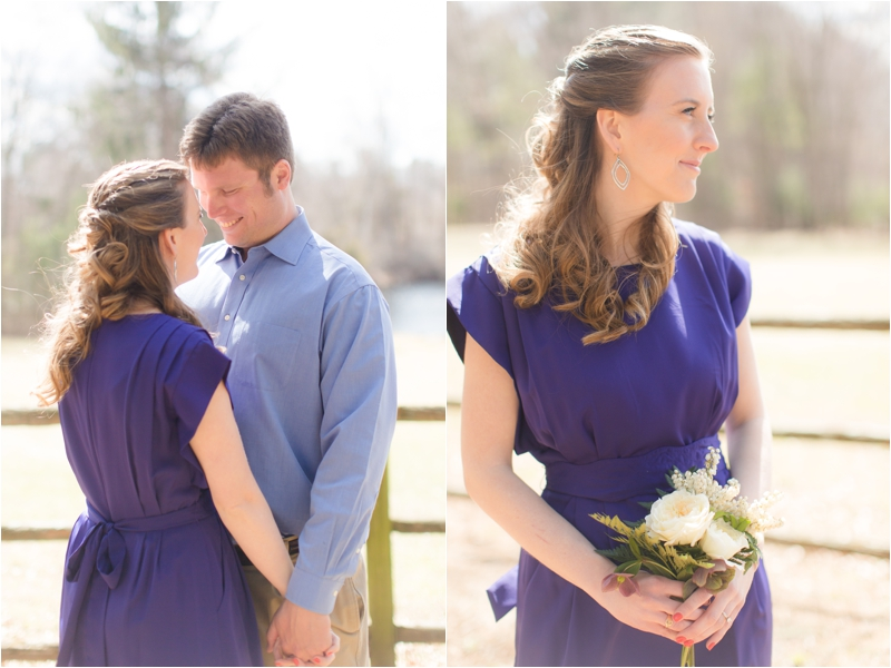 A garden inspired spring engagement session.