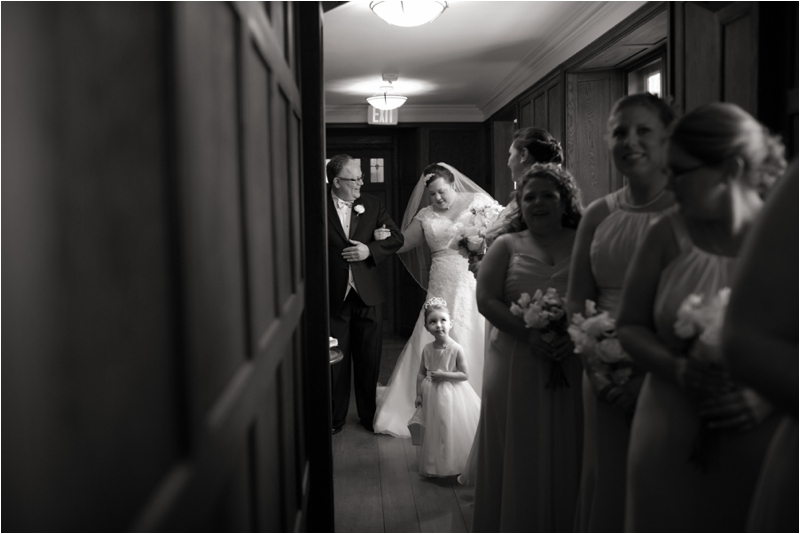 Bride before ceremony at Willowdale Estate
