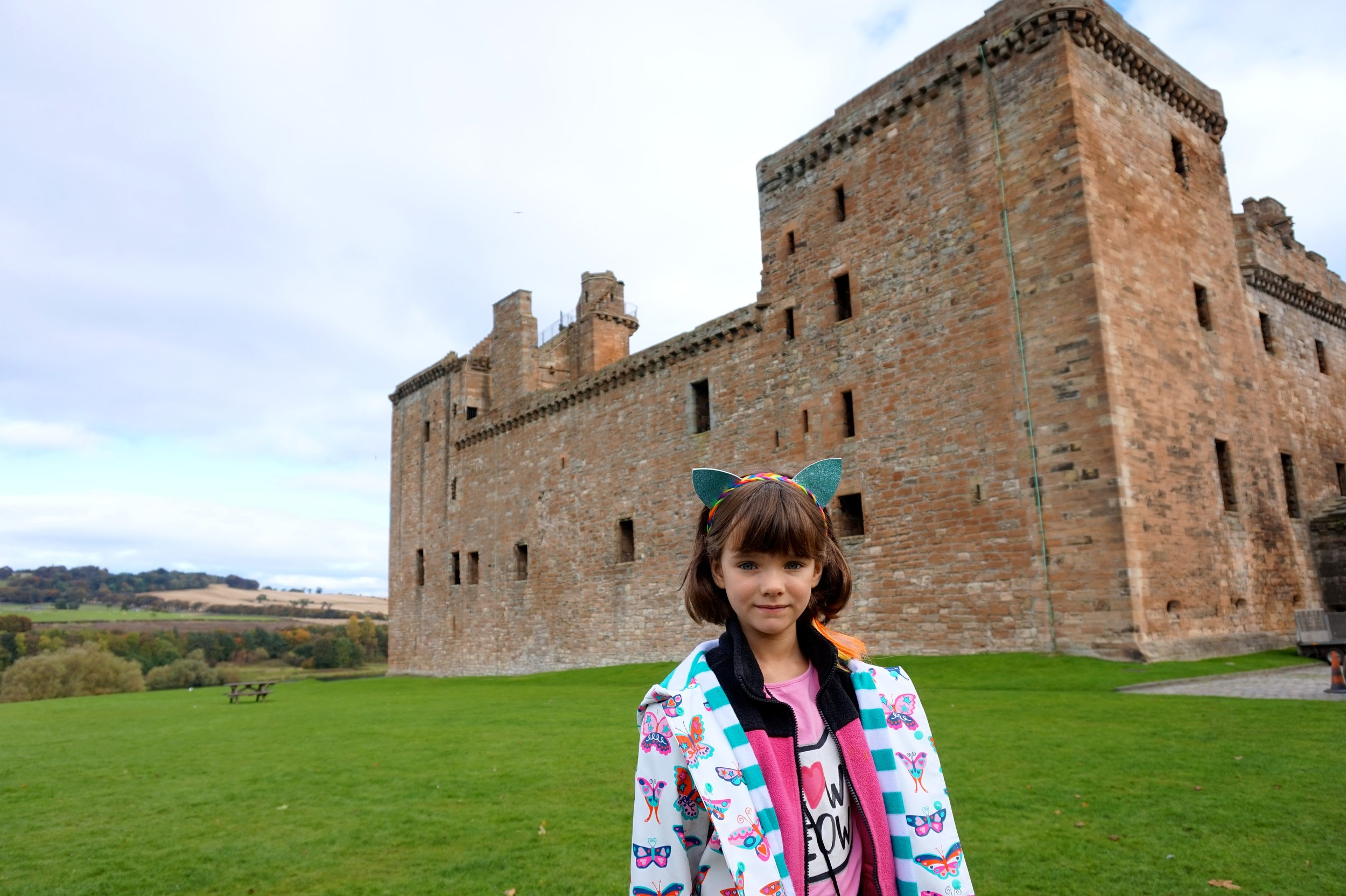 My daughter, just outside the Palace