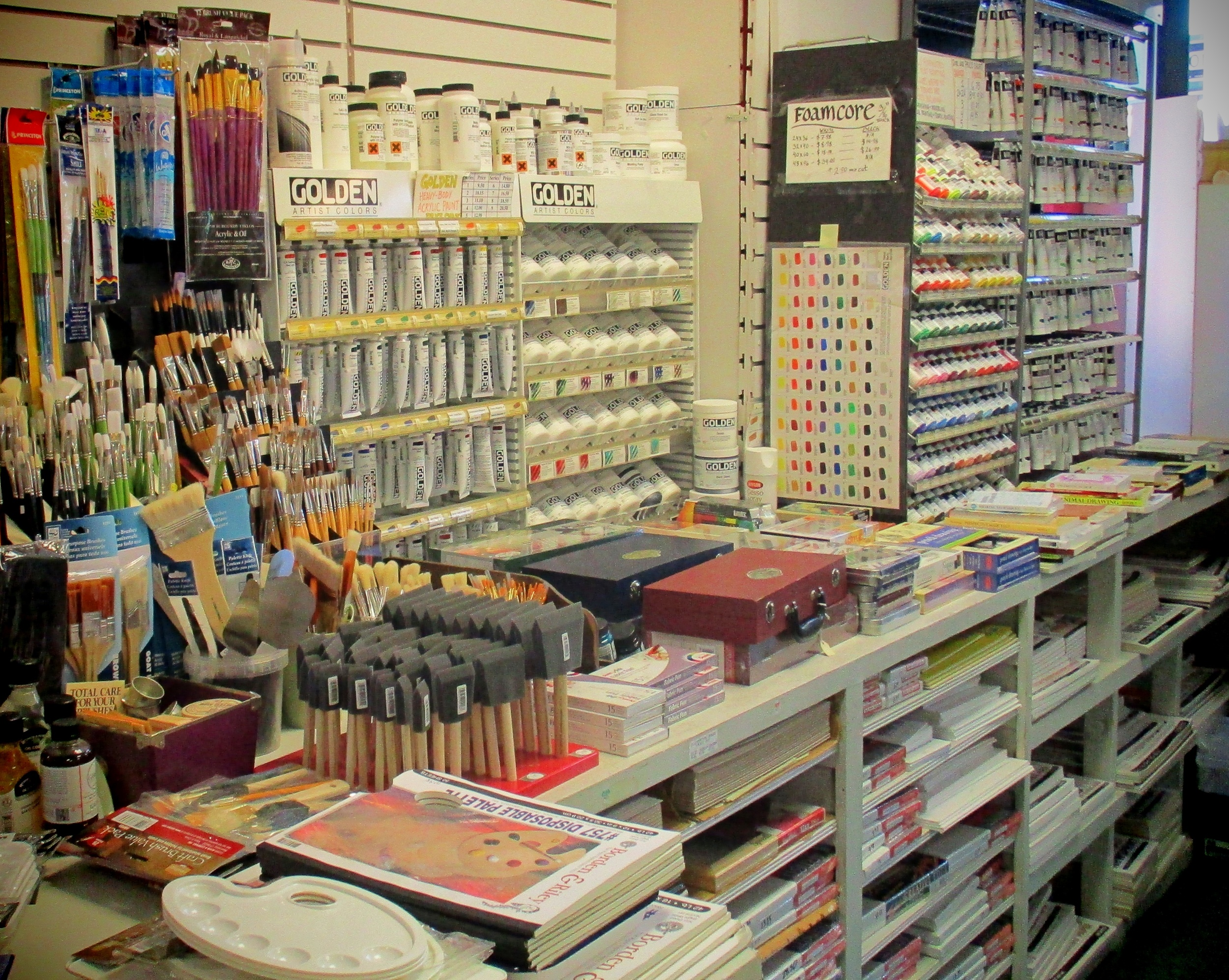 Quality Art Supplies  For Amateurs & Professionals   List of products
